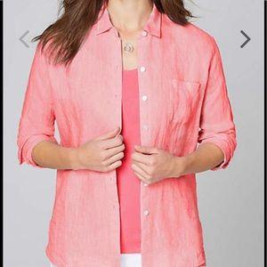 J Jill Love Linen Essential Shirt Size Medium